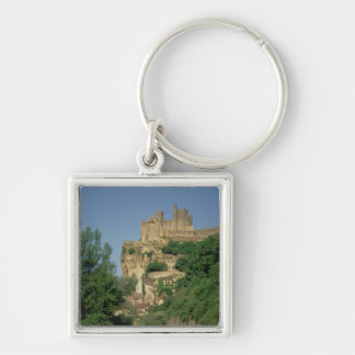 Exterior view from the lower cliffs Silver-Colored square keychain