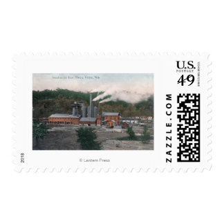 Exterior View of a Smelting Plant Postage