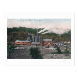Exterior View of a Smelting Plant Postcard