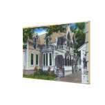 Exterior View of a Typical Ginger Bread House Canvas Print