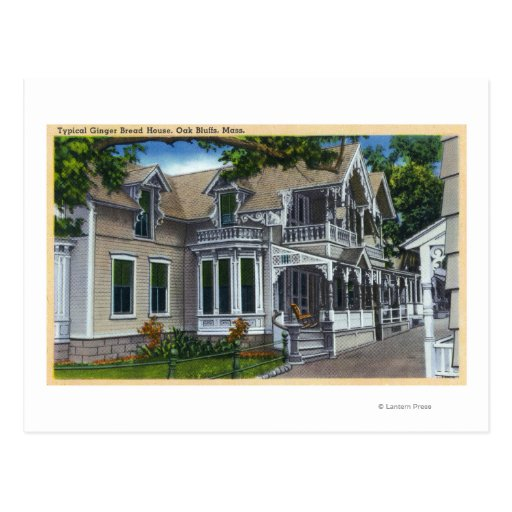Exterior View of a Typical Ginger Bread House Postcard