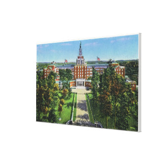 Exterior View of Aetna Life Insurance Building Stretched Canvas Print
