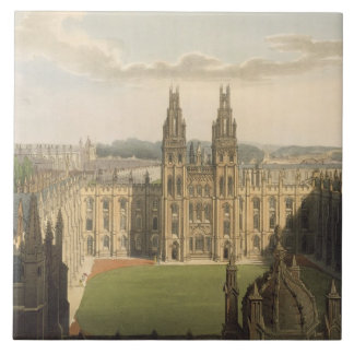Exterior view of All Souls College, taken from the Large Square Tile
