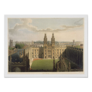 Exterior view of All Souls College, taken from the Poster