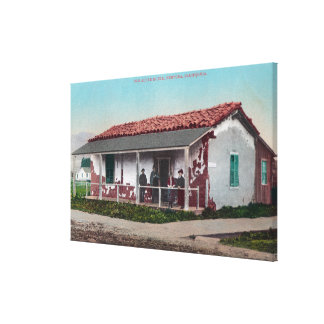 Exterior View of an Old Adobe HomeVentura, CA Canvas Print