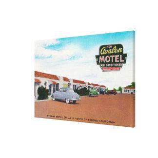 Exterior View of Avalon MotelFresno, CA Stretched Canvas Print