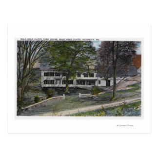 Exterior View of Bald Head Cliffs Farm House Postcard
