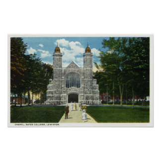Exterior View of Bates College Chapel Posters