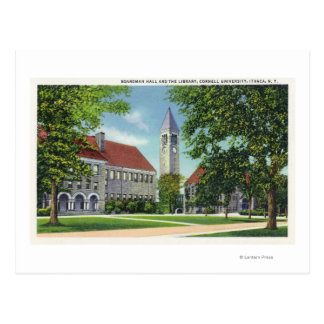Exterior View of Boardman Hall and the Library Postcard