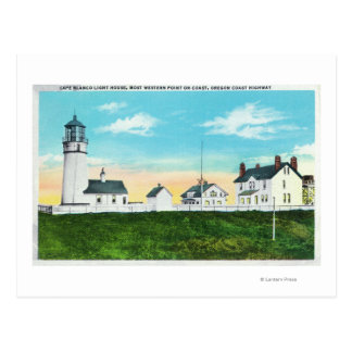 Exterior View of Cape Blanco LighthouseCoast Postcard