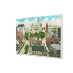 Exterior View of Capitol Hill and Official Canvas Print