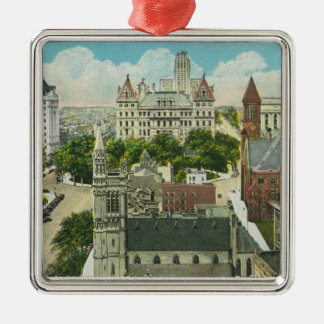Exterior View of Capitol Hill and Official Metal Ornament