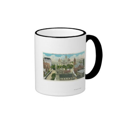 Exterior View of Capitol Hill and Official Ringer Coffee Mug