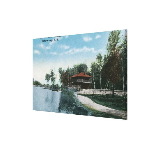 Exterior View of Central Park Casino Canvas Print