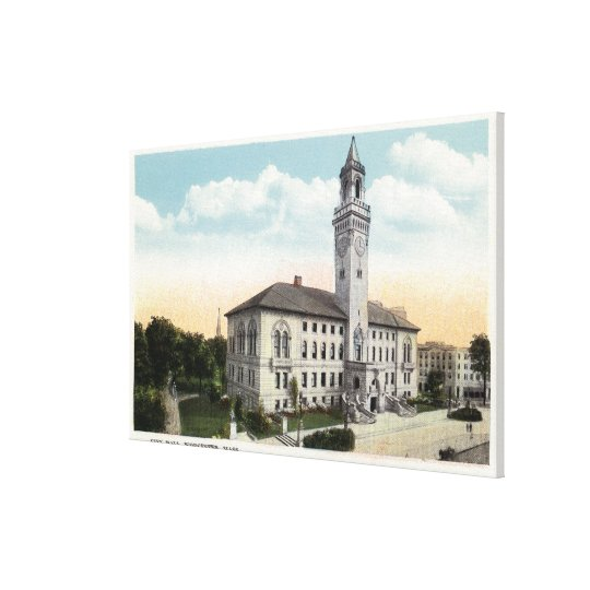 Exterior View of City Hall Canvas Print