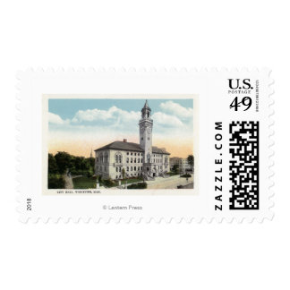 Exterior View of City Hall Postage Stamps
