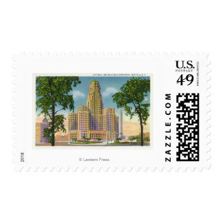 Exterior View of City Hall & the McKinley Stamps