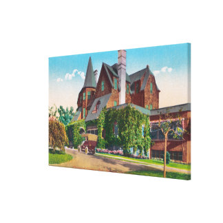 Exterior View of Claremont Country Club Canvas Print