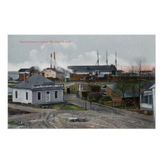 Exterior View of Clark-Nickerson Lumber Co Poster