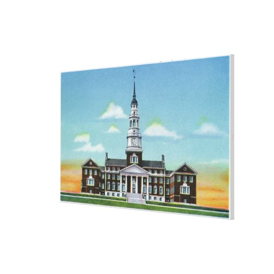 Exterior View of Colby College Miller Library Canvas Print