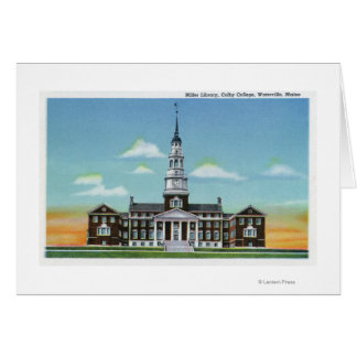 Exterior View of Colby College Miller Library Card
