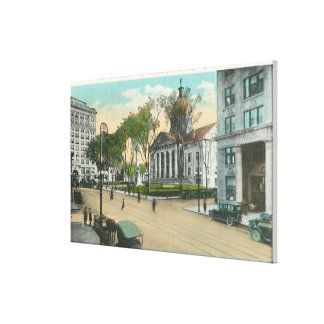 Exterior View of Court House Canvas Print