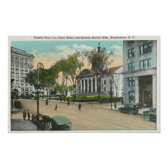 Exterior View of Court House Poster