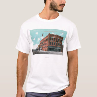 Exterior View of Cunningham Hotel on Lewis St T-Shirt