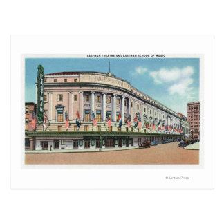 Exterior View of Eastman Theatre & School of Postcard
