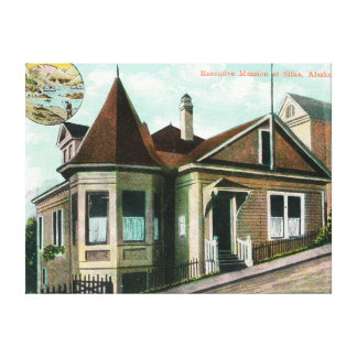 Exterior View of Executive MansionSitka, AK Stretched Canvas Print