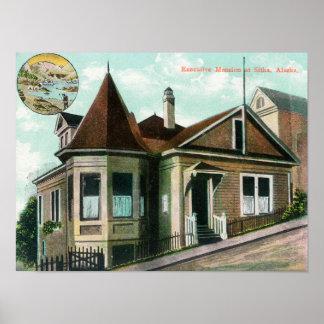 Exterior View of Executive MansionSitka, AK Poster