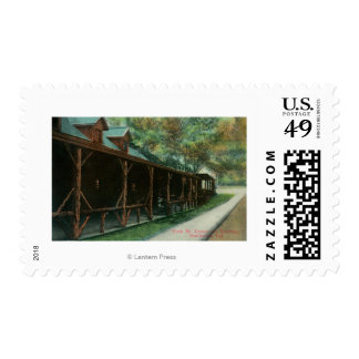 Exterior View of Fitch Mt. Tavern and Roadway Postage