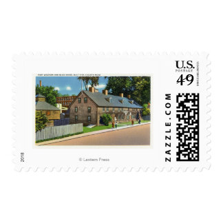 Exterior View of Ft. Western and Block Houses # Postage Stamp