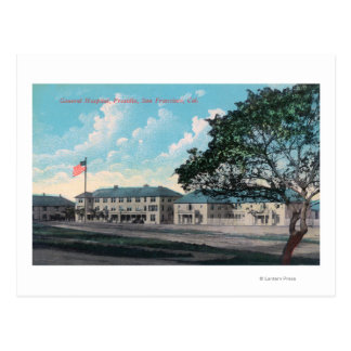 Exterior View of General Hospital, Presidio Postcard