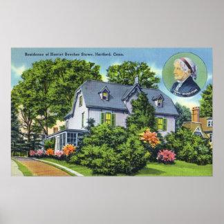 Exterior View of Harriet Beecher Stowe's Poster