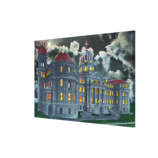 Exterior View of Holy Names Academy Bldg at Canvas Prints