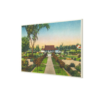 Exterior View of Hoopes Gardens Club House Canvas Print