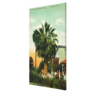Exterior View of Hotel au Palm Stretched Canvas Print