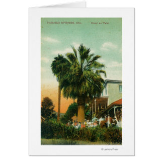 Exterior View of Hotel au Palm Greeting Card