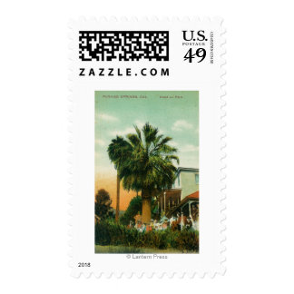 Exterior View of Hotel au Palm Stamps