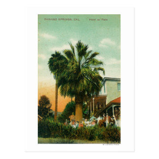 Exterior View of Hotel au Palm Post Card