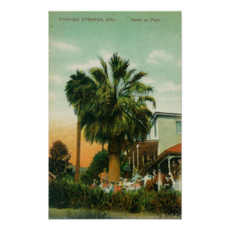 Exterior View of Hotel au Palm Poster