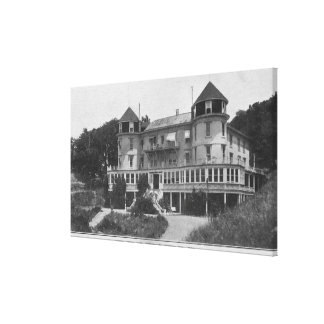 Exterior View of Hotel Bon Air in Escalle Canvas Print