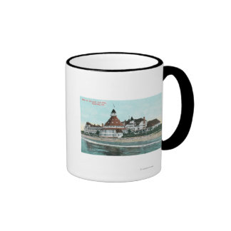 Exterior View of Hotel del Coronado from Pier Ringer Coffee Mug