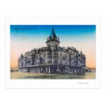 Exterior View of Hughes HotelFresno, CA Postcard