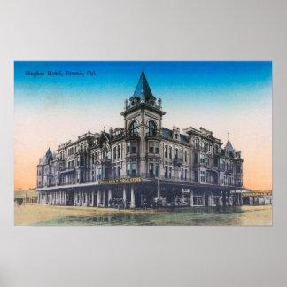 Exterior View of Hughes HotelFresno, CA Poster