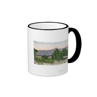 Exterior View of James Marshall Cabin Ringer Coffee Mug