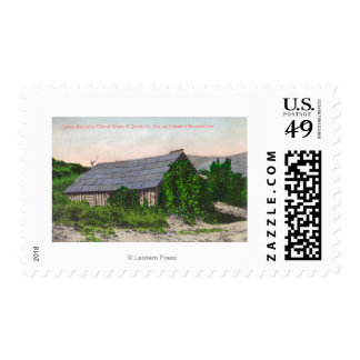 Exterior View of James Marshall Cabin Postage Stamp