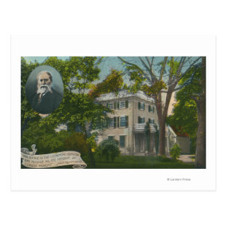Exterior View of James Russell Lowell Home Postcard