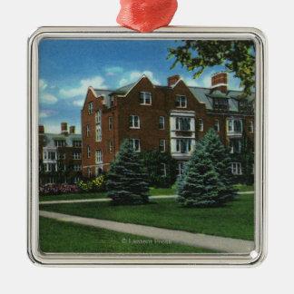 Exterior View of Josselyn Hall, Vassar College Metal Ornament